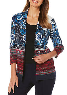 Rafaella Engineer Printed Cardigan
