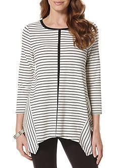 Rafaella Yarn Stripe Top