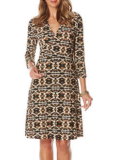 Rafaella Printed Wrap Dress