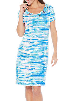 Rafaella Tie Dye Lace Neck Dress