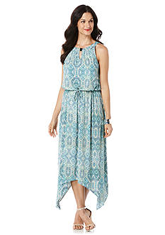 Rafaella Printed Halter Maxi Dress