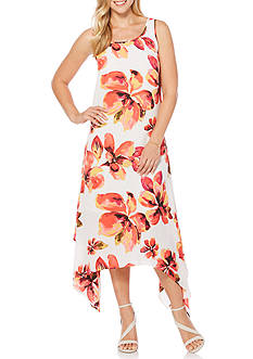 Rafaella Bursting Bloom Floral Print Dress