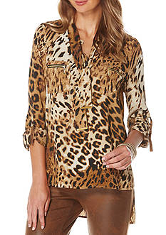 Rafaella Animal Print Tunic
