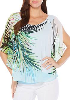Rafaella Palm Butterfly Top