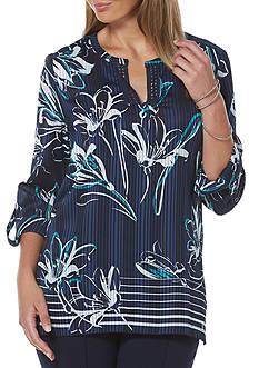 Rafaella Satin Floral Printed Top