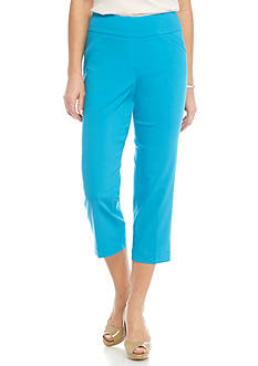 Kim Rogers® Solid Stretch Crop Pants