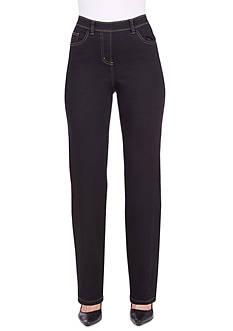 Kim Rogers Petite Super Stretch Five Pocket Pull On Average Pants