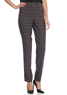 Kim Rogers® Plaid Easy Fit Pants