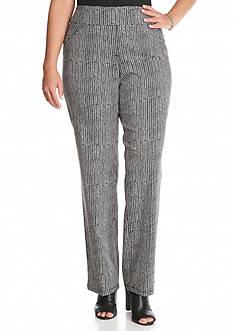 Kim Rogers Plus Size Chevron Tech Knit Pants