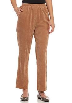 Kim Rogers Petites Corduroy Pants - Regular