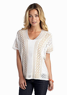 New Directions® Pointelle And Pattern Mix Poncho