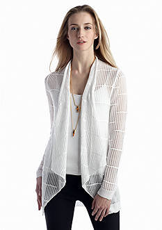 New Directions® Pointelle Stitch Drape Cardigan