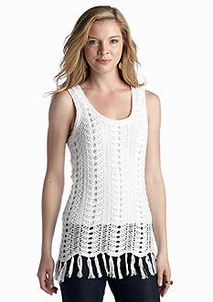 New Directions® Crochet Tank With Fringe