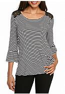 New Directions® Stripe Crochet Shoulder Tunic