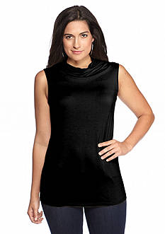 New Directions® Sleeveless Drape Neckline Top