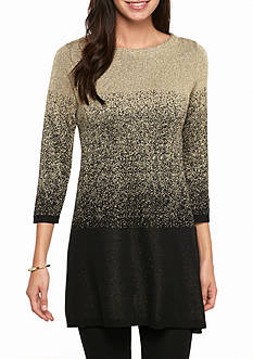 New Directions Metallic Ombre Swing Sweater