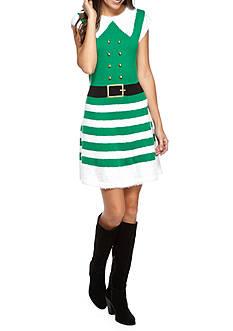 New Directions Stripe Jingle Bell Elf Dress