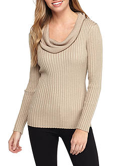 New Directions Petite Oversize Neck Sweater