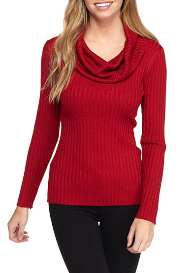 New Directions® Petite Oversize Neck Sweater