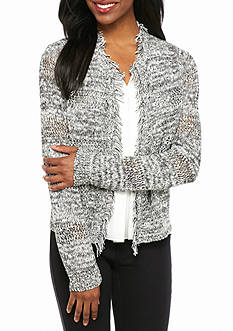 New Directions® Petite Long Sleeve Marbled Cardigan