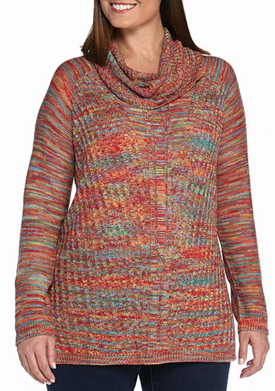 New Directions® Plus Size Cowl Neck Sweater