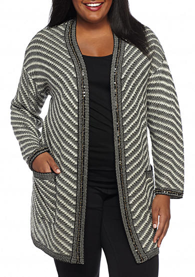 New Directions® Plus Size Embellished Cardigan