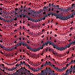 Petite Sweaters: Crew & Scoop Neck: Pink Purple Combo New Directions Petite Printed Drop Shoulder Sweater