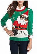 New Directions® DJ Santa Holiday Sweater