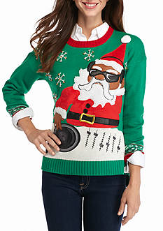 New Directions DJ Santa Holiday Sweater