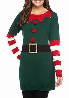 New Directions Happy Elf Jingle Bell Sweater