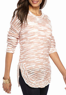 New Directions Shimmer Stripe Sweater