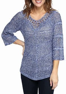 New Directions Marled Mitered Stitch Sweater