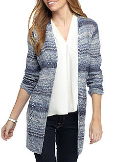 New Directions Petite Size Open Stitch Cardigan