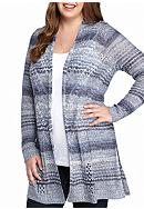 New Directions® Plus Size Open Stitch Marled