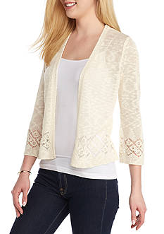New Directions Shrug Cardigan with Border Detail