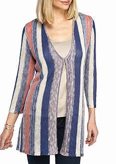 New Directions Vertical Stripe Cardigan