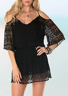 Becca Poetic Cold Shoulder Tunic Swim Cover Up