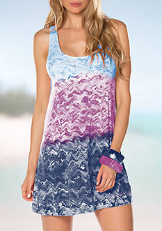 Becca Cosmic Tank Dress Swim Cover Up