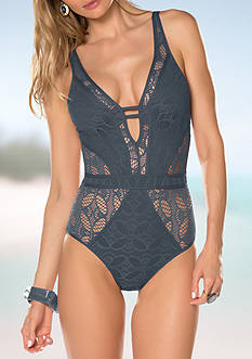 Becca Color Play Lace One Piece Swimsuit