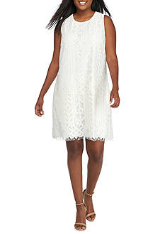 Speechless Plus Size Allover Lace Dress