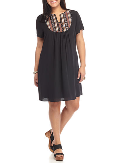 Speechless Plus Size Embroidered Shirtdress