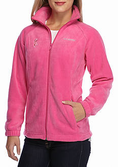 Columbia Women's Tested Tough In Pink Benton Springs Full Zip Fleece Jacket