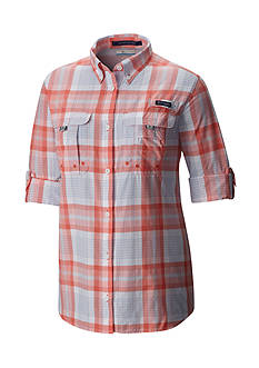 Columbia PFG Super Bahama Long Sleeve Plaid Shirt