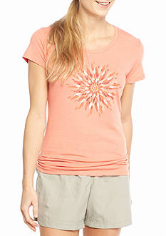 Columbia Womens Plus Daisy Day Medallion Short Sleeve Tee