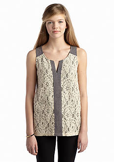 Red Camel® Lace Front Tank