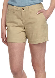 Red Camel Belted Twill Short