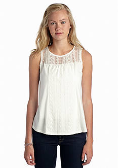 Red Camel® Embroidered Yoke Tank