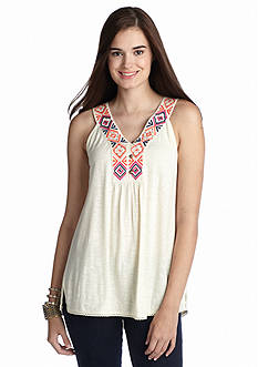 Red Camel® Embroidered Crochet Tank