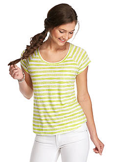Red Camel Watercolor Stripe Favorite Fit Tee