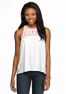 Red Camel® Embroidered Top Knit Tank